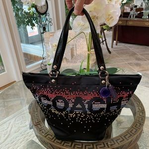 COACH LIMITED EDITION BAG WITH RHINESTONES